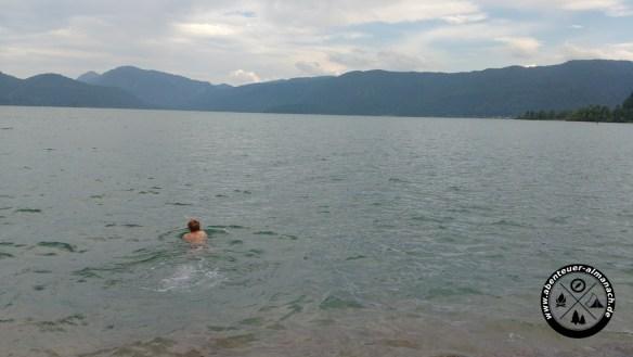 Badestopp am Walchensee