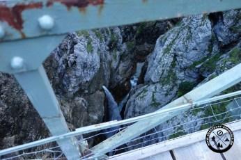 eiserne Brücke über der Höllentalklamm