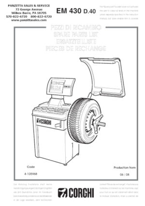 Eewb305a Snap On Tire Machine Manual Calibration Weight