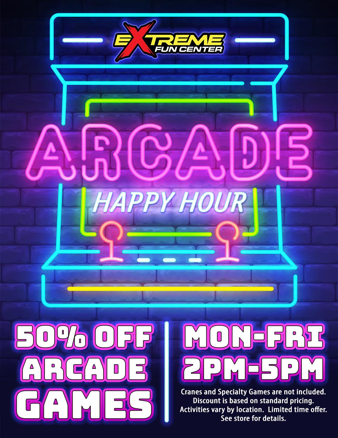 Arcade Happy Hour
