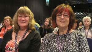 Branch delegates, Kate Ramsden and Ann Gray