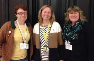 Deirdre and Kate with Dr Lisa Cameron, MP