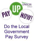 Please do UNISON Scotland's short survey on our local government pay claim