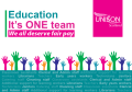 Education - it's one team. We all deserve fair pay