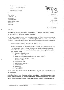 thumbnail of LETTER TO EDEL HARRIS 311018 ballot result on pay failure to agree acas invite