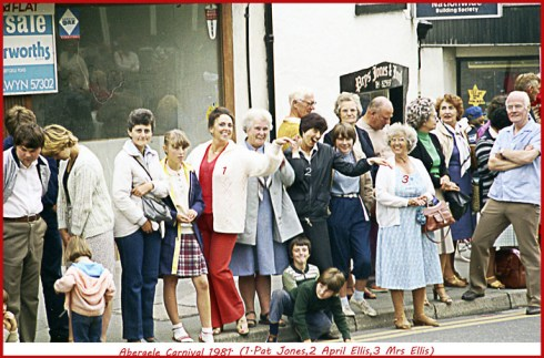 Photo by Dennis Parr of the 1981 Abergele Carnival.