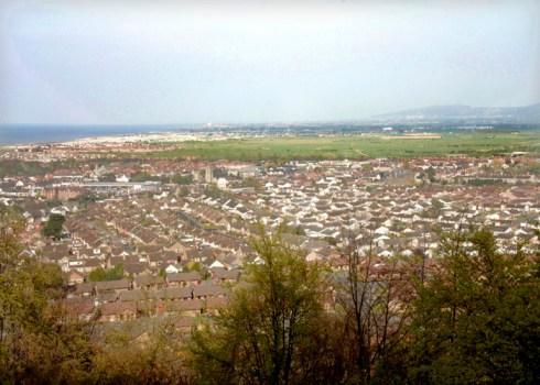 Tan y Gopa view of Abergele towards Rhyl. Photo taken 2003/06 by Sion Jones