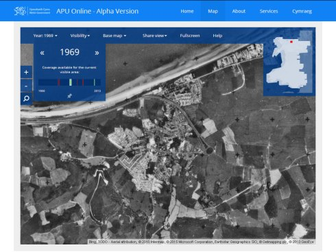 Abergele 1969 from air