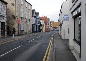 Chapel Street looking south towards Llanfair Rd. Photo Sion Jones 2012-3