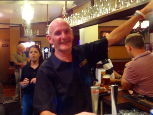 Celebrating 31 years behind the bar at the George and Dragon