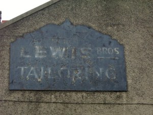 Lewis Bros ghost sign