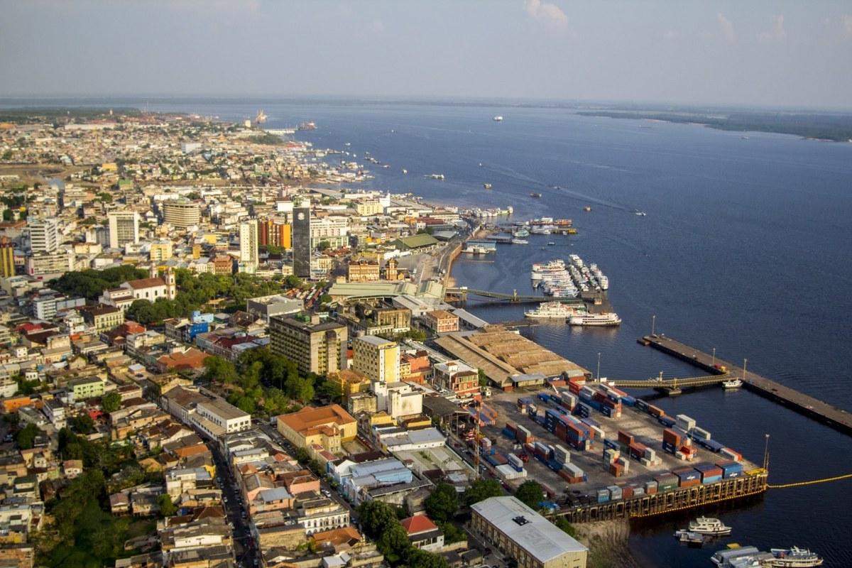 Foto aérea de Manaus, representando escritório de contabilidade em Manaus - Abertura Simples