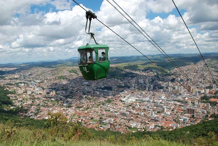 Foto aérea da cidade de Poços de Caldas, representando abrir empresa em Poços de Caldas - Abertura Simples