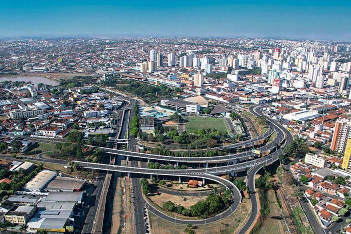 Foto aérea de São José do Rio Preto, representando escritório de contabilidade em São José do Rio Preto - Abertura Simples