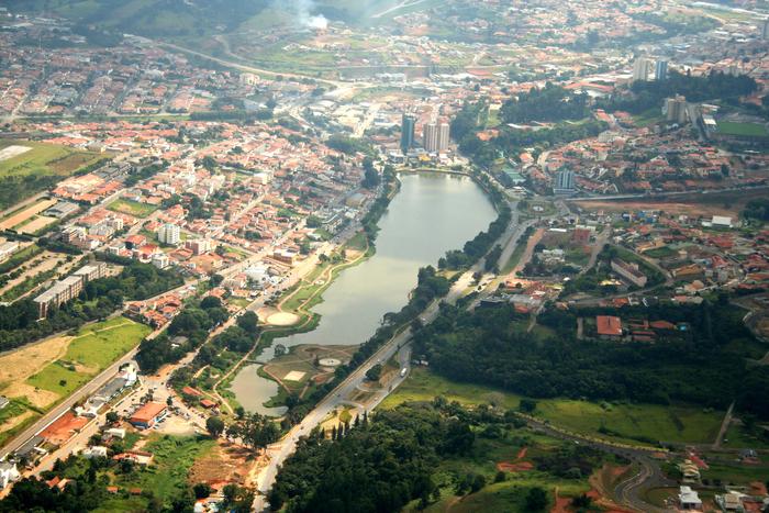 Foto aérea de Bragança Paulista, representando abrir empresa em Bragança Paulista - Abertura Simples