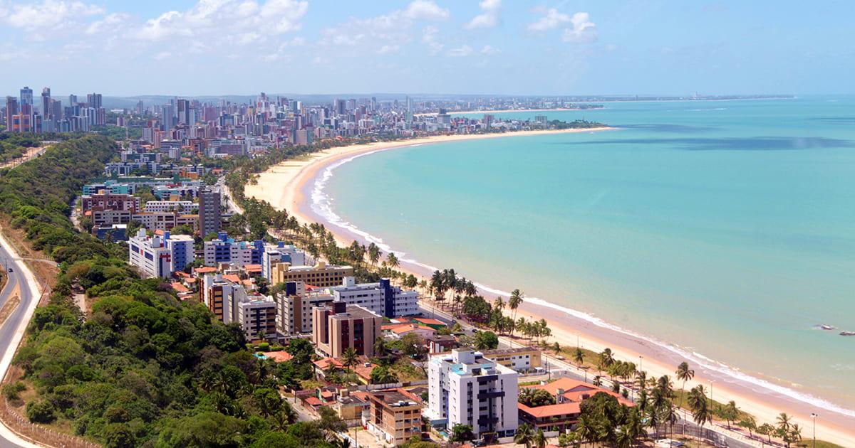 Foto da orla da praia, representando como abrir empresa em João Pessoa