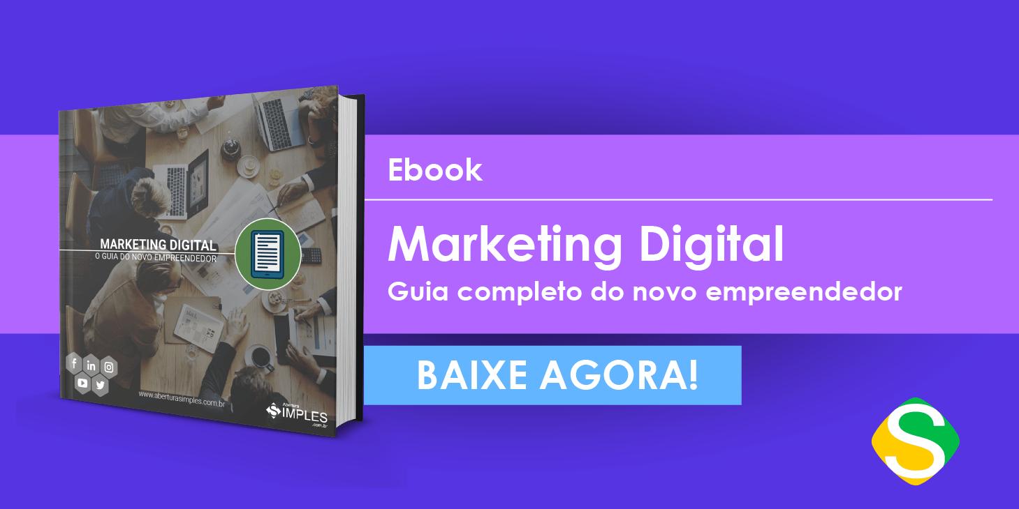 Imagem com um botão do ebook de Marketing Digital