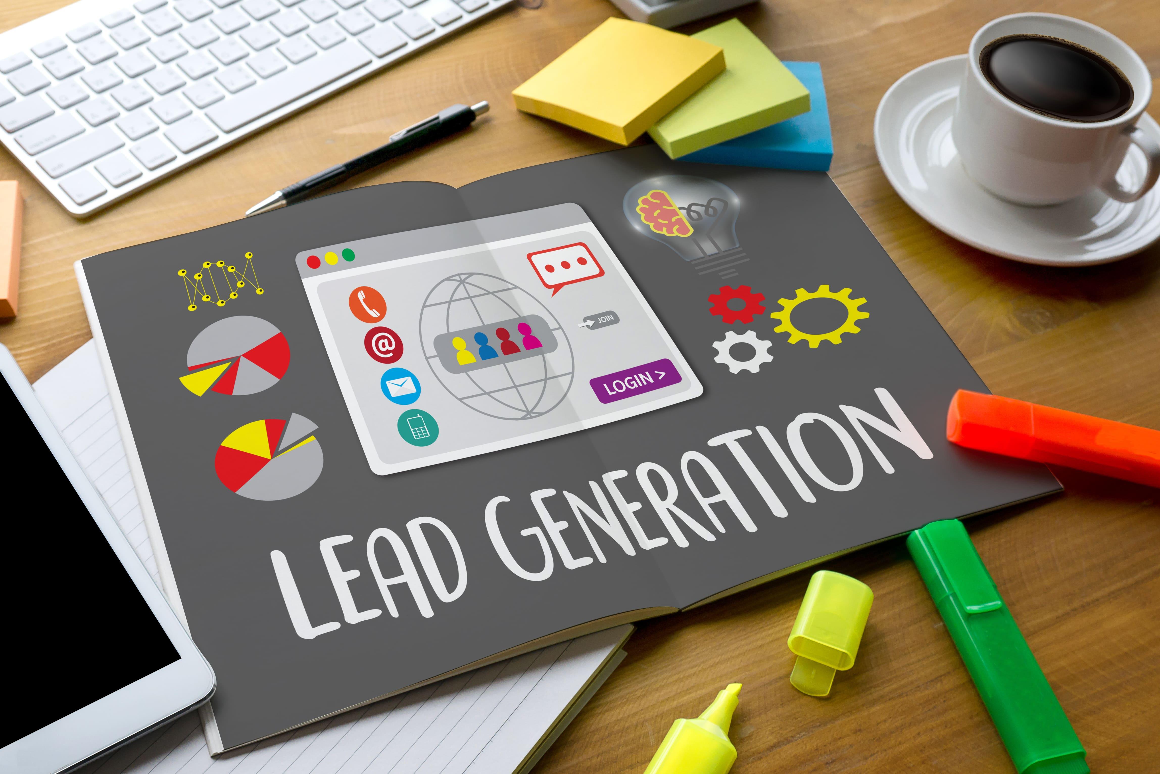 Imagem de um livro escrito leads generation para remeter ao assunto trabalhado no post