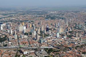 Foto aérea da cidade, representando como abrir empresa em limeira