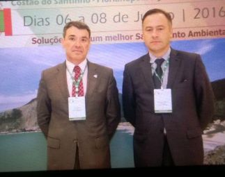 Paulo Ramísio, presidente da APESB - Associação Portuguesa de Engenharia Sanitária e Ambiental, e Francisco Taveiras, presidente da APRH - Associação Portuguesa dos Recursos Hídricos