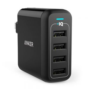 Anker 40W 4-Port USB Wall Charger with Foldable Plug