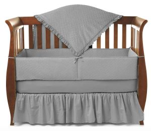 American Baby Company Heavenly Soft Minky Dot 4-Piece Crib Bedding Set