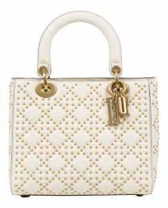 6c4b4954dd9c4 Christian Dior Lady Dior – Handbag in white leather with studs