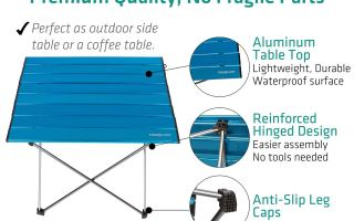 Top 5 best camping table walmart in 2019 reviews