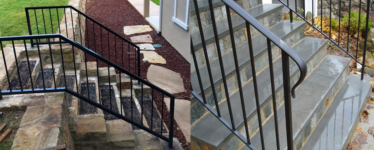 Mckinney Handrail Installation Company Handrails Stairway Railings   Stair Banisters And Railings   Baby Proof   Rustic   Split Level   Pinterest   Landing