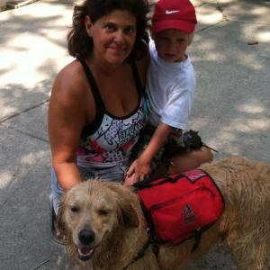 rachel boy and dog