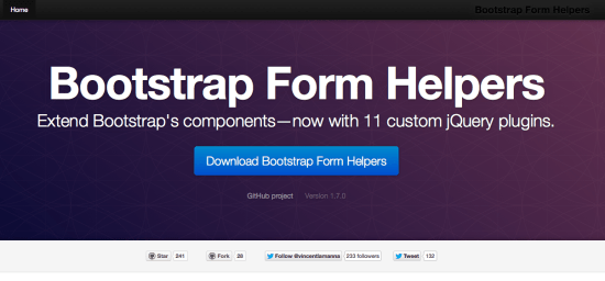 Bootstrap Form Helpers