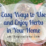 Easy Ways to Use and Enjoy Herbs in Your Home