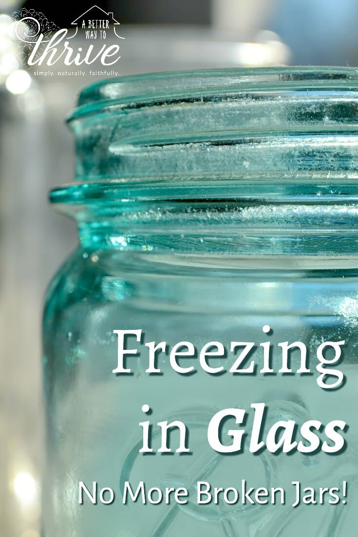 Freezing in glass is a great way to store homemade broth, leftover soup, and fresh juices. But if you're not really careful, you can end up with shattered jars. Follow these 5 simple tips to successfully freeze in glass and keep your jars whole.