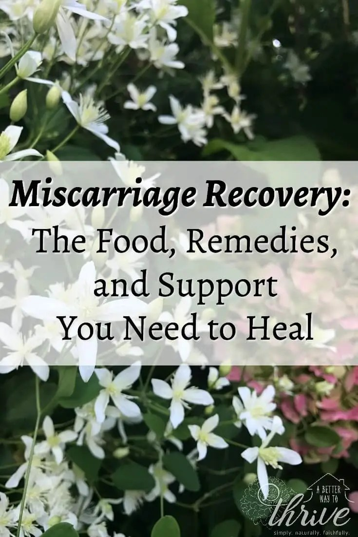 Miscarriage Recovery The Food, Remedies, and Support You Need to Heal