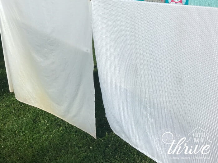 how to clean shower curtain liner bleach