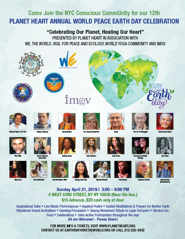 Earth & Peace Day Celebration 4-21 in NYC