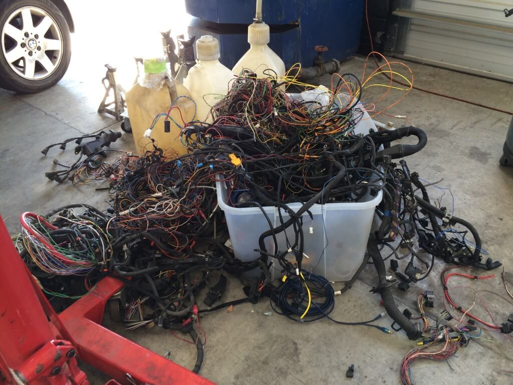 hight resolution of wiring harness fire before after a u0026bdustin 1991 mercedes 560 sec 1991 mercedes 560 sec