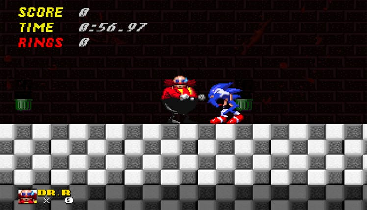 Screenshot from old Sonic game