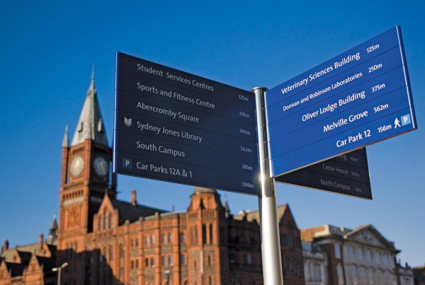 Wayfinding & Signage University Of Liverpool Abg Design