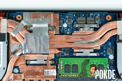Four screws each over the AMD CPU and NVIDIA GPU