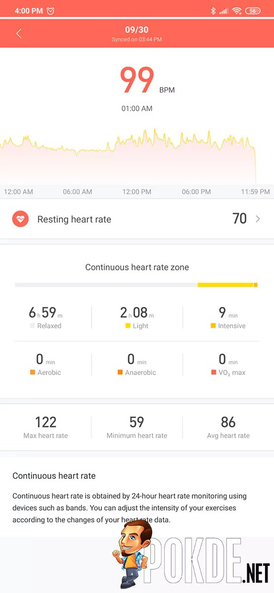 All-day heart rate monitoring