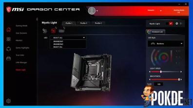 MSI MEG Z490I Unify Dragon Center Mystic Light 2