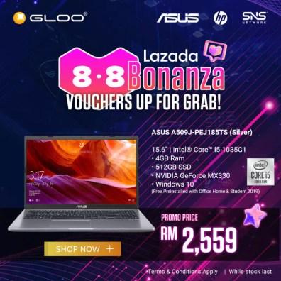 ASUS A509JP GLOO promo Lazada Bonanza