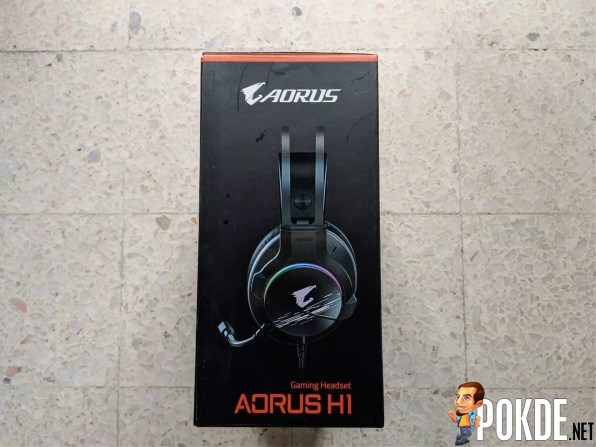 GIGABYTE AORUS H1 Gaming Headset Box Side 1