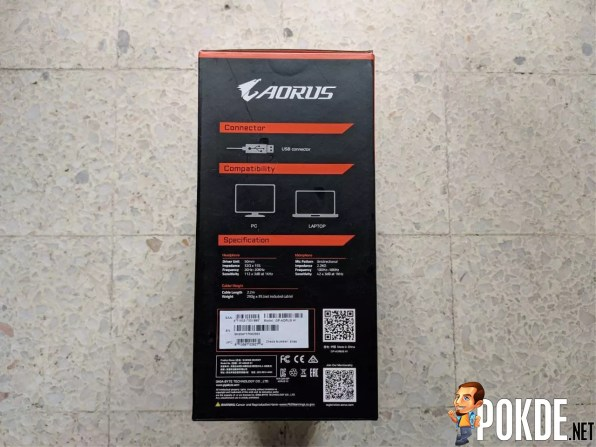 GIGABYTE AORUS H1 Gaming Headset Box Side 2