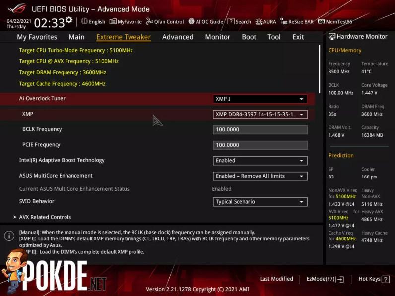 ASUS ROG Maximus XIII Hero Review BIOS