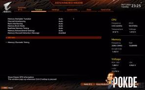 GIGABYTE Z590 AORUS Pro AX Review BIOS memory settings
