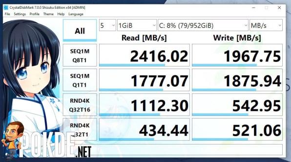 ASUS ExpertBook B1 review CrystalDiskMark SSD