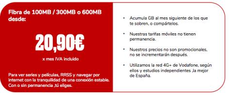 tarifa 20,90 tarifas ofertas Jovellanos telecom