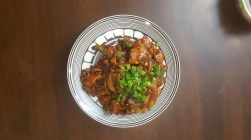 Chicken Chilly from Usmania, Chicago that I modified to make it fit for human consumption